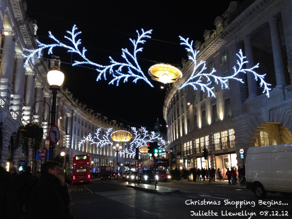 12 Days of Christmas LIghts on Regents St